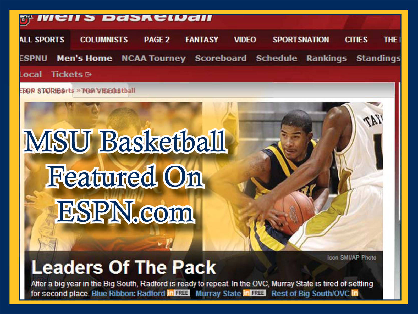 Racer Basketball Featured On Espn Com Murray State University Athletics